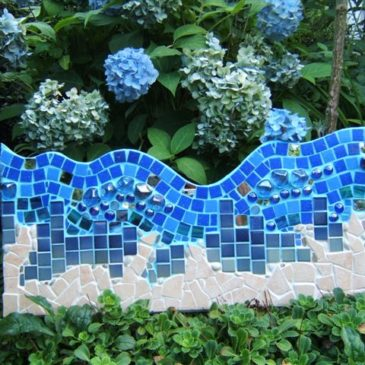 Mosaikbild Meeresstrand