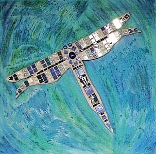 Mosaik Libelle
