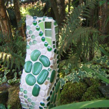 Grüne Gartensäule