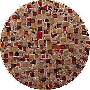 Rundes Mosaikbild