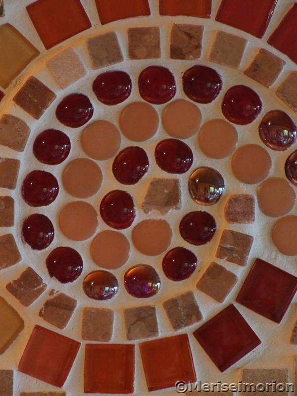 Rotes Mosaikbild