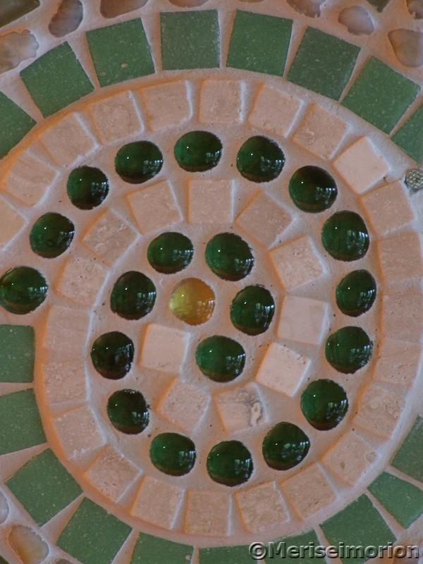 Grünes Mosaikbild