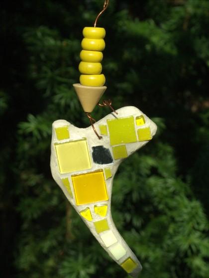 Mosaik Suncatcher in gelb
