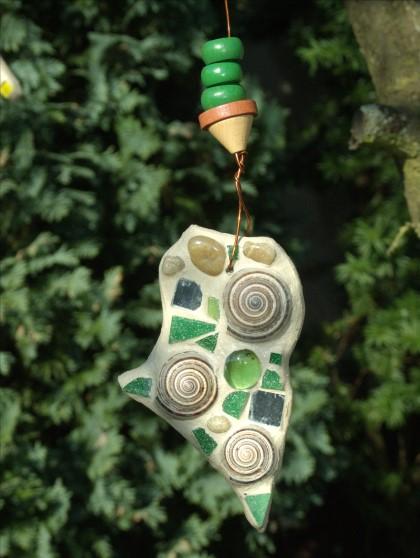 Mosaik Suncatcher in grün