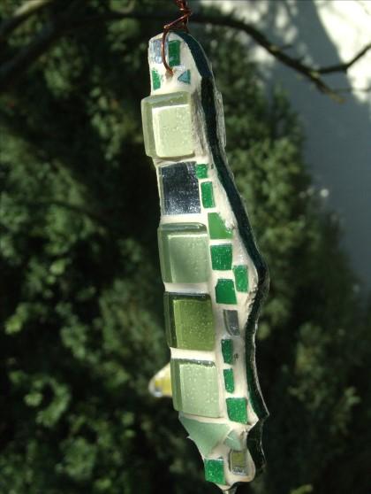 grüner Mosaik Suncatcher