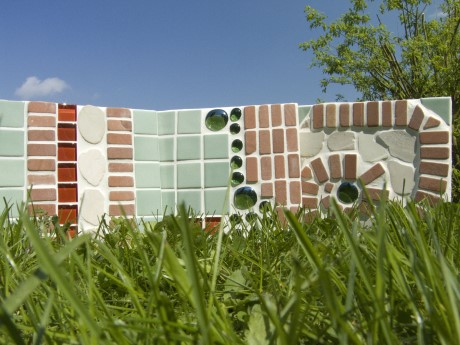Mosaik Gartenplatten