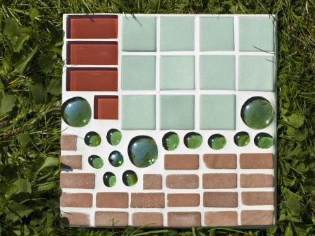 Mosaik Gartenplatte