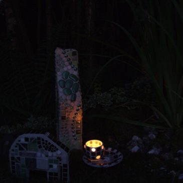 Gartenimpressionen bei nacht