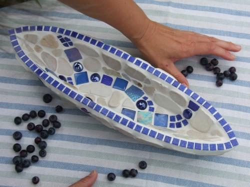 blaue Mosaikschale
