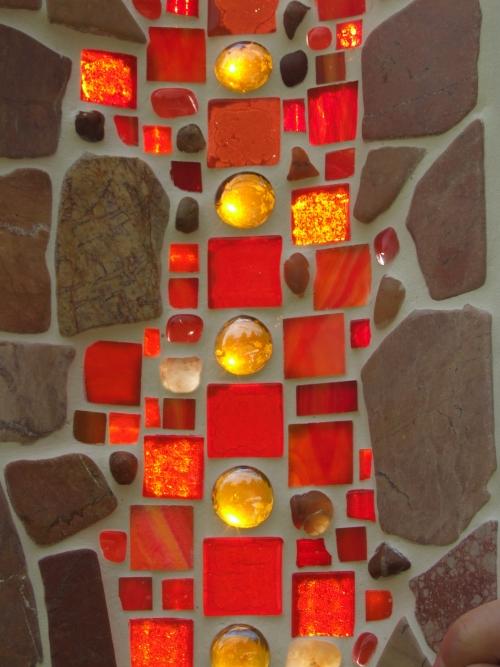 Mosaikschale aus Glas und Marmor