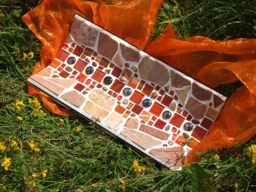 orange Mosaikschale