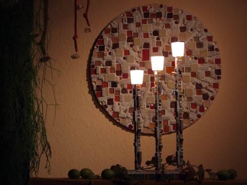 Mosaiklampe Sommerabschied