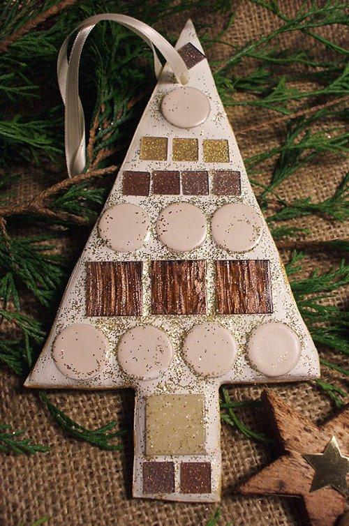 Geschenkanhänger aus Mosaik