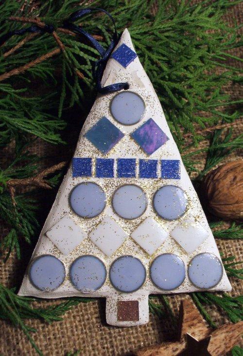 Geschenkanhänger basteln aus Mosaik
