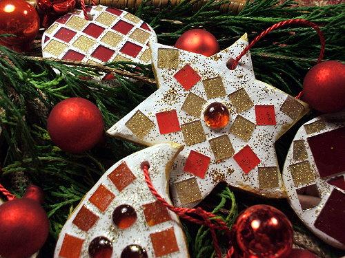 Weihnachtsbaumschmuck Mosaik