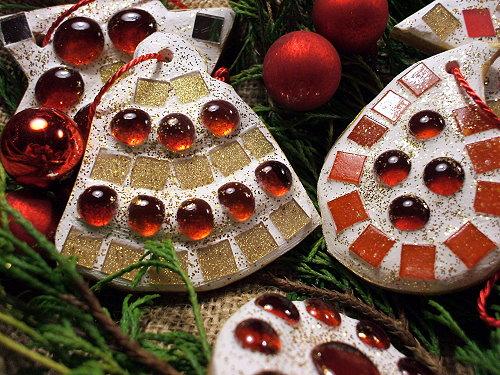 Mosaik Weihnachtsbaumschmuck