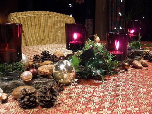 Tischdeko Weihnachten Rot
