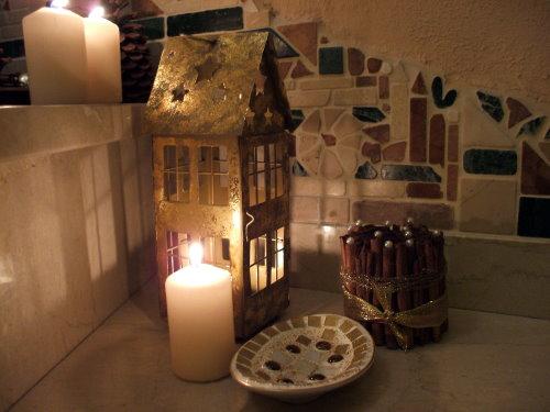 Mosaike basteln Weihnachten