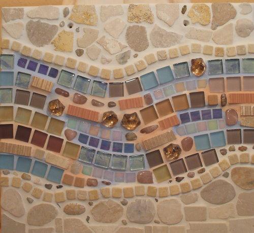 Mosaikbild in Pastellfarben