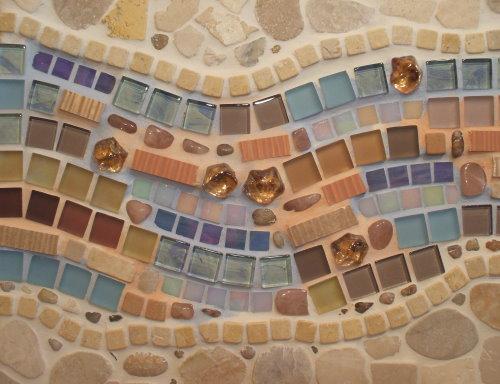 Mosaikbild Winterhimmel in Pastellfarben