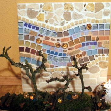 Mosaikbild Winterhimmel