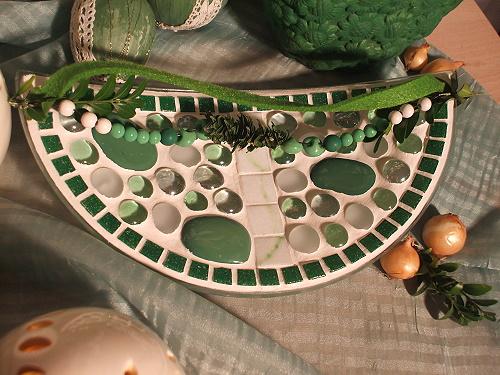 Mosaikschale in grün