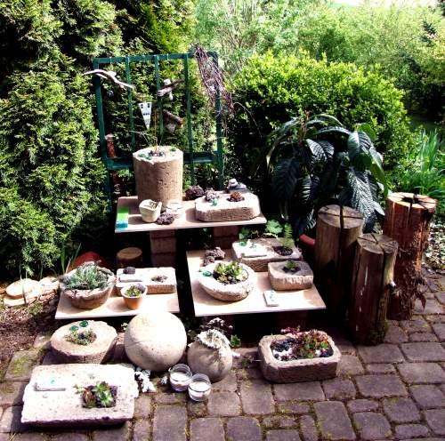 Topfgarten aus Beton