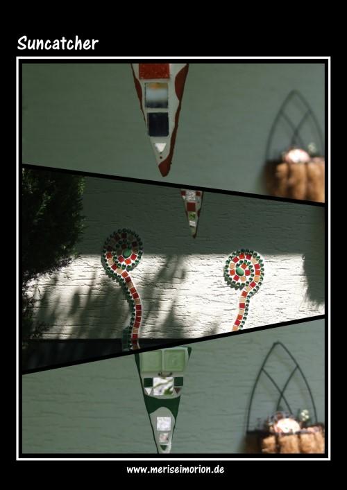 Mosaik Suncatcher im Garten