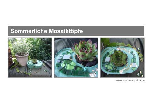 Sommerliche Mosaiktöpfe