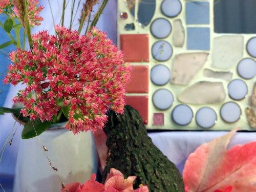 Mosaikspiegel in Herbstfarben
