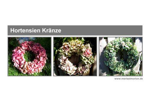 Hortensienkränze binden