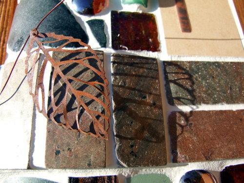 Mosaikschale kupfer grün