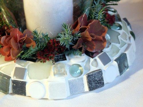 Mosaikkranz in weiß