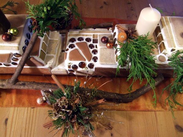 Adventsdeko Tisch