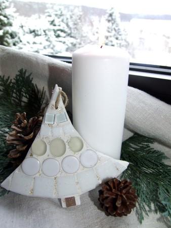 Mosaik Weihnachts-Anhänger