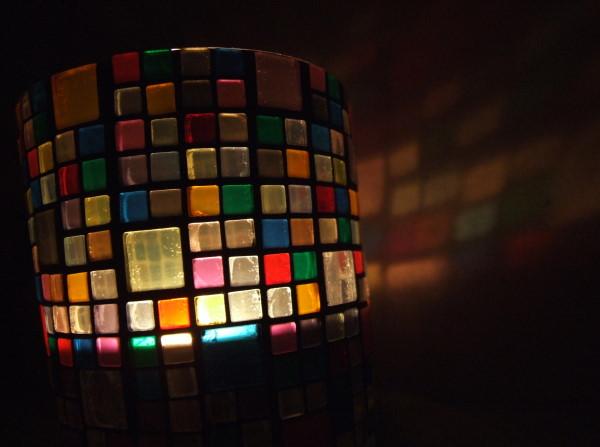 Mosaik Windlicht