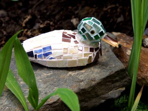 Mosaik Ente am Teich