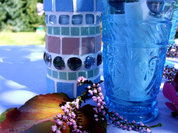 hortensienfarbene mosaik vasen meriseimorion. Black Bedroom Furniture Sets. Home Design Ideas