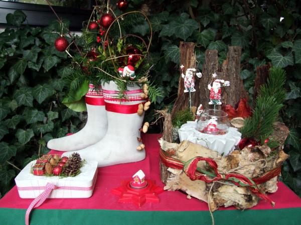 Beton Deko Weihnachten im Garten