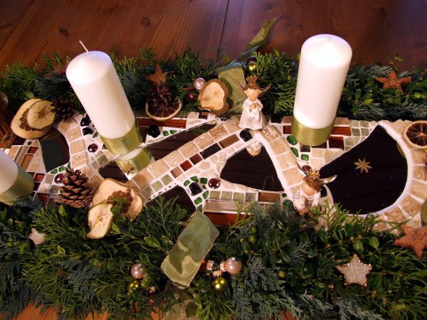 Mosaikdeko Weihnachten