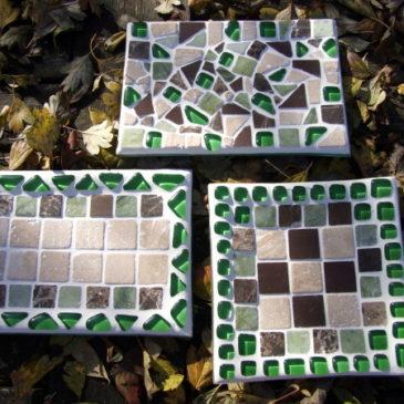 Mosaikteller basteln