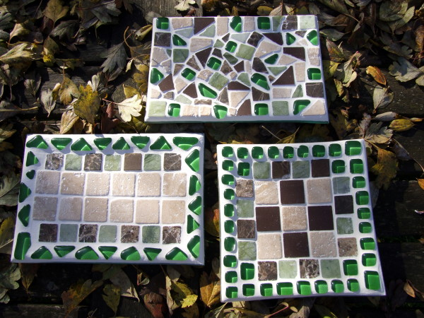 Herbstdeko Mosaik Teller