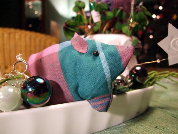 Tischdekoration Silvester Glücksschwein