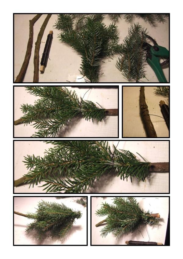 Anleitung weihnachtsbaum wickeln