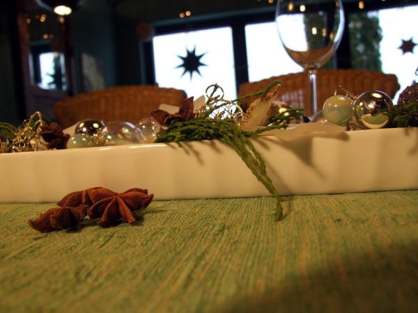 Deko im Olivenschiffchen