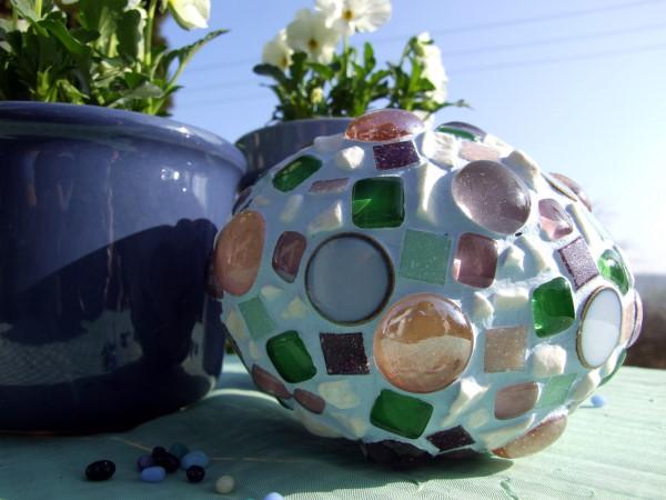pastellfarbene Mosaik Ostereier