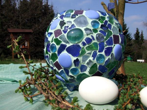 blaues Mosaik Windlicht