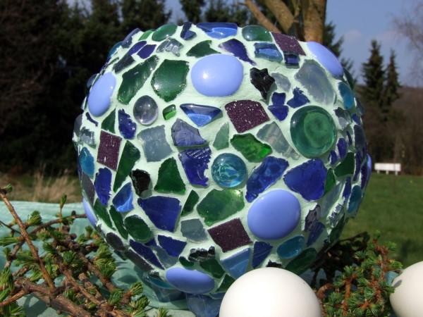 Mosaik Windlicht basteln