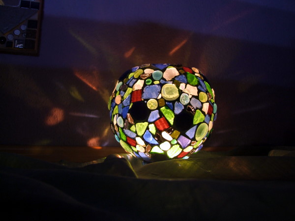 Mosaik Windlicht selbstgemacht