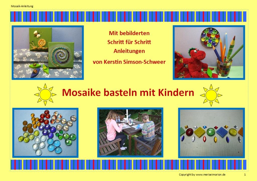 DIY Ideen Mosaike basteln mit Kindern